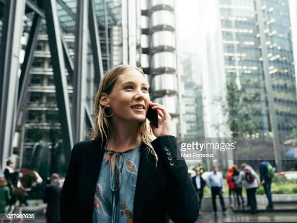 Female businesswoman on phone