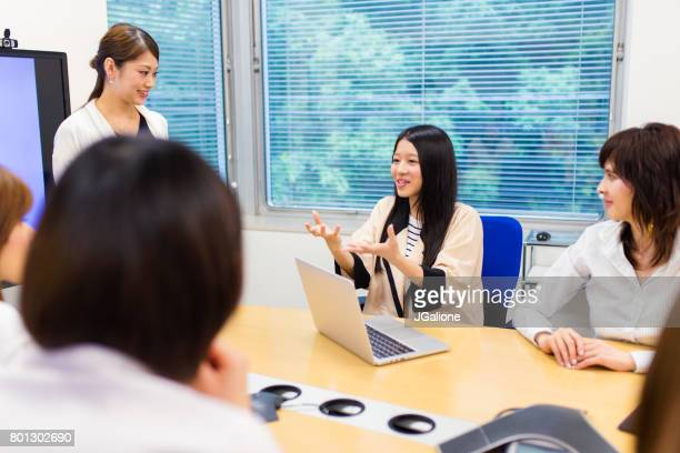 Female businesswomen in a conference room