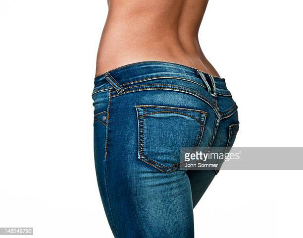 female buttocks - woman bum stock photos and pictures