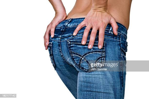 female buttocks - big bums stock photos and pictures