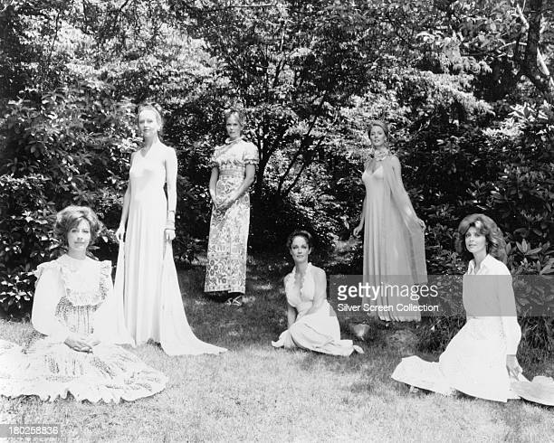 Female cast members in a publicity still for 'The Stepford Wives' directed by Bryan Forbes 1975 Left to right Nanette Newman Carole Mallory Barbara...