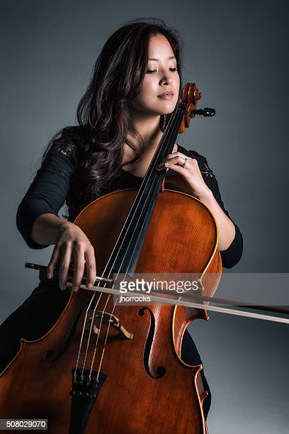 Female Cellist Playing Cello