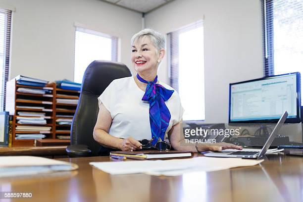 female CEO in happy mode