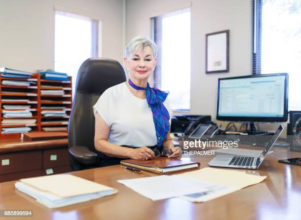 Female CEO in her office
