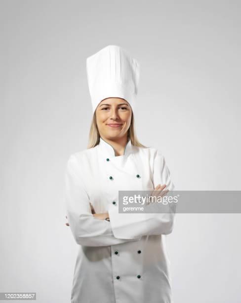 ritratto di chef femminile - chef foto e immagini stock
