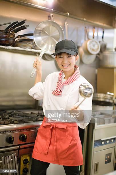Female chef, portrait