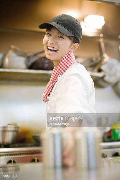 Female chef, portrait