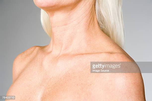 Female chest and shoulders