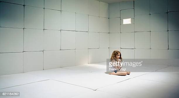 Female Child in Padded Cell