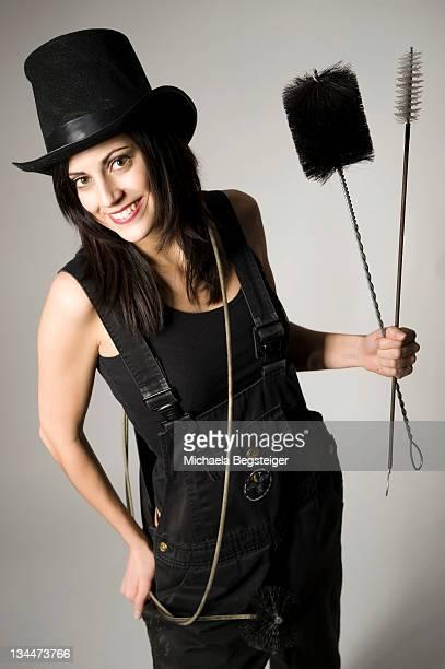 Female chimney sweep