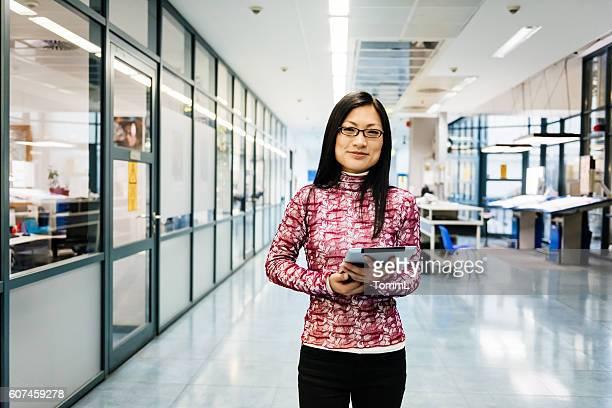 Female chinese engineer portrait