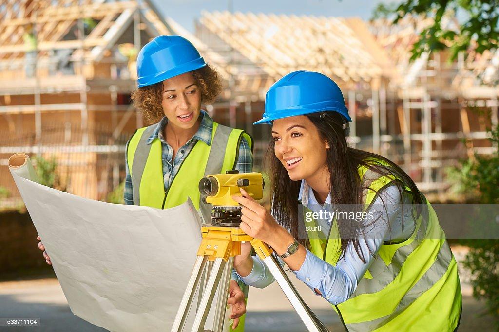 Ingegneri civile femmina : Foto stock