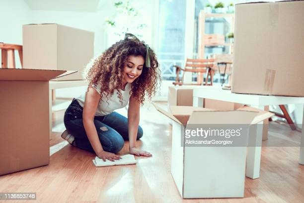 Female Cleaning New Apartment