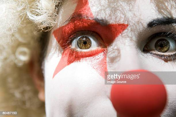 female clown - clown's nose stock photos and pictures