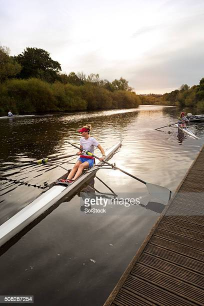 Female Club Rower on the River