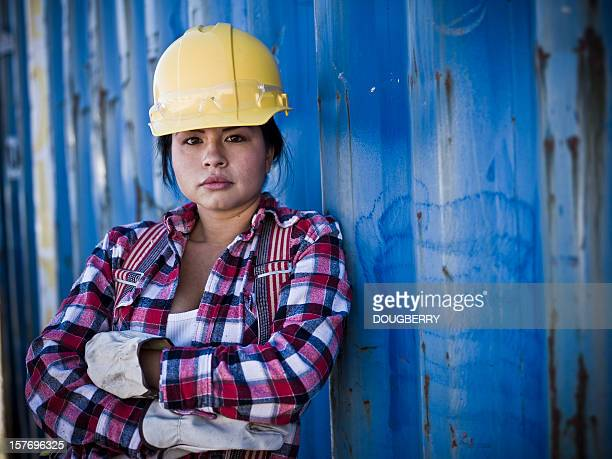 female construction worker - trade union stock pictures, royalty-free photos & images