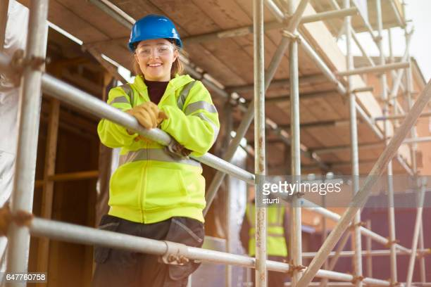 female construction worker portrait