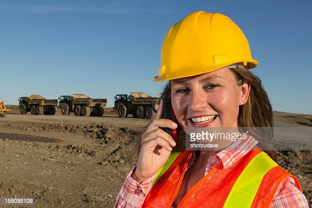Female Contractor on Phone