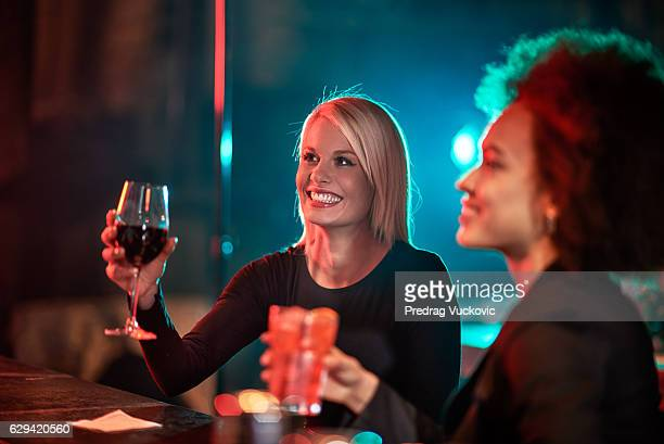 Female couple in the bar