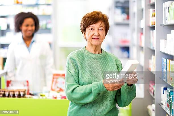 Female customer in a pharmacy.