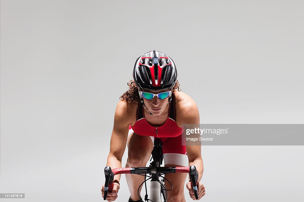 Female cyclist : Stock Photo