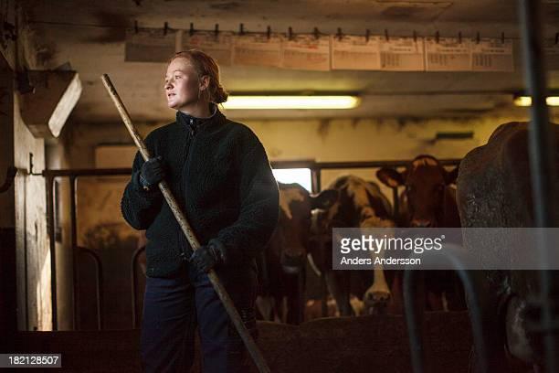 Female dairy farmer