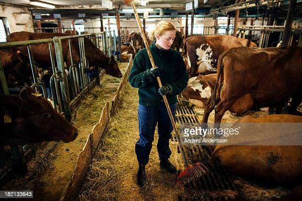 Female dairy farmer