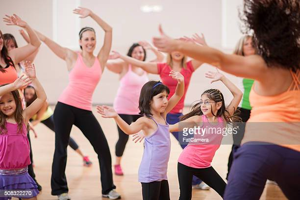 Female Dance Fitness Class a the Gym