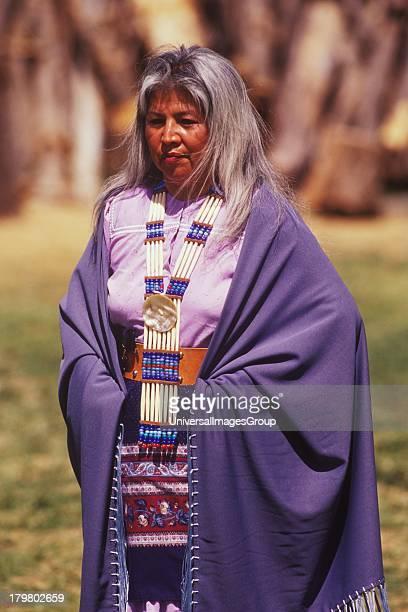 Female dancer Apache Mescal Roast Living Desert Zoo and Gardens Carlsbad New Mexico