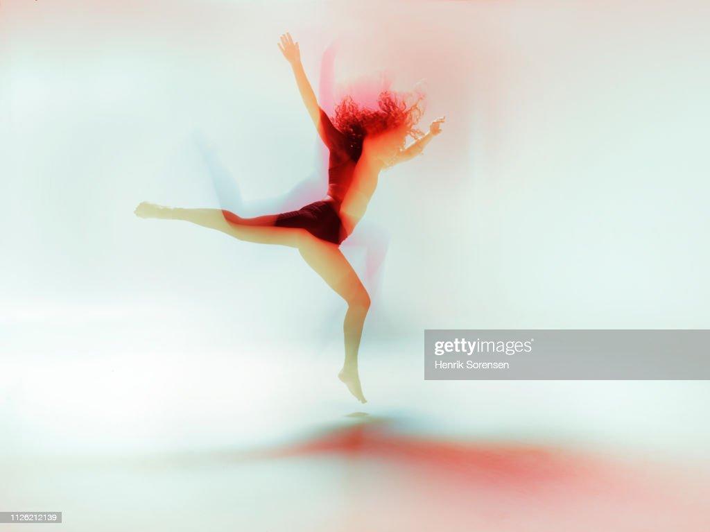 Female dancer in motion : Stock Photo