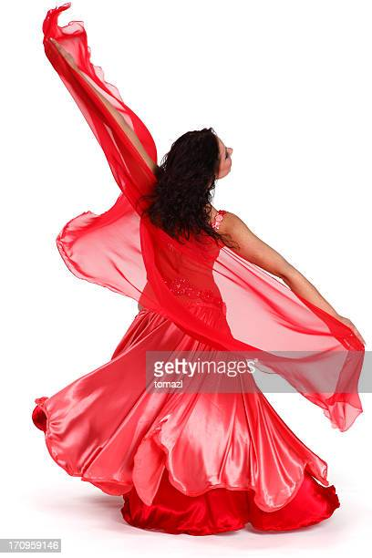 female dancer  spinning - belly dancing stock photos and pictures