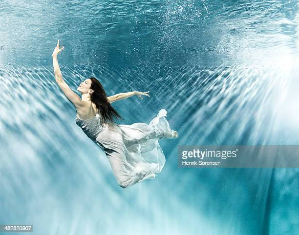 Female dancer under water