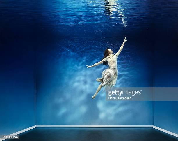 Female dancer underwater