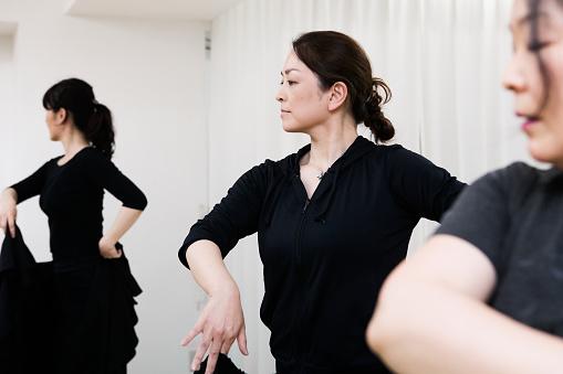 Female dancers immersed in flamenco - gettyimageskorea