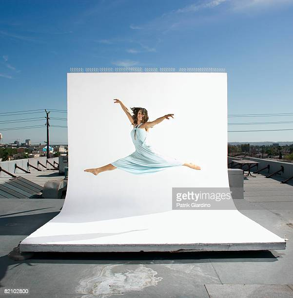female dancing - backdrop artificial scene stock pictures, royalty-free photos & images