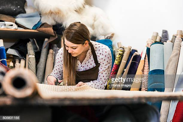 Female designer doing creative work.