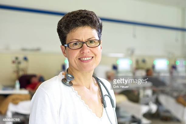 Female dialysis doctor