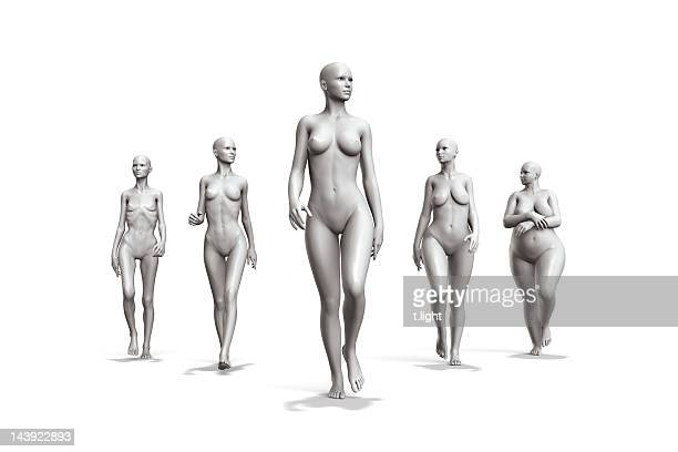female diversity - underweight stock photos and pictures