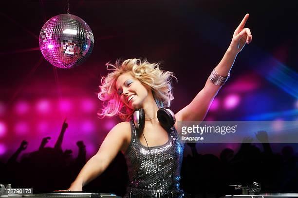 Female DJ in Action