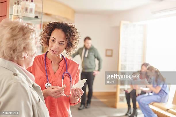 Weiblich Arzt Beratung