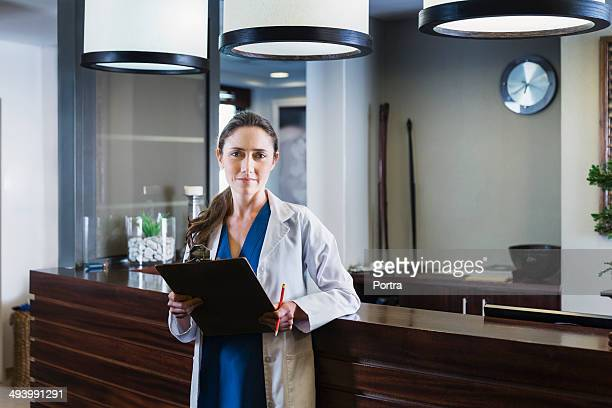 Female doctor at a health clinic.