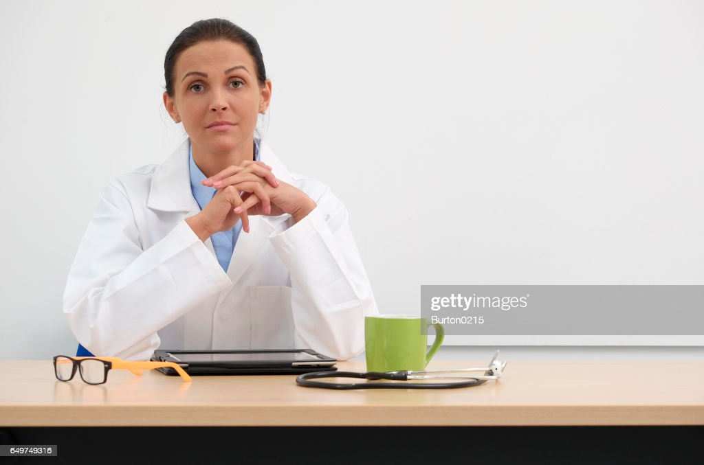 female doctor in medical center : Stockfoto
