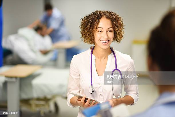 female doctor on the ward