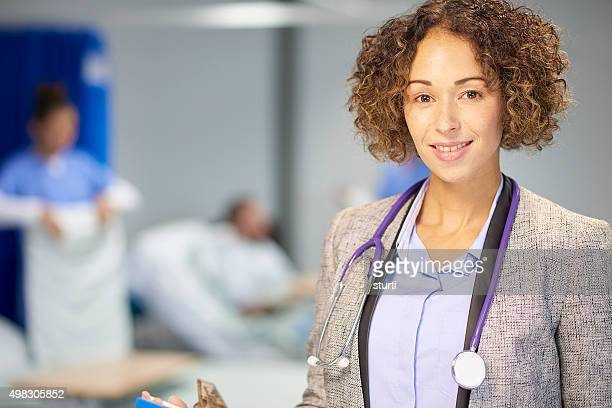 female doctor portrait in hospital