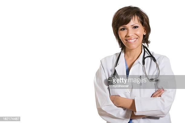 Sonriente mujer médico