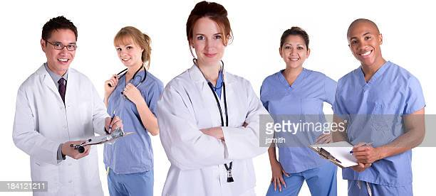 Female Doctor with Team
