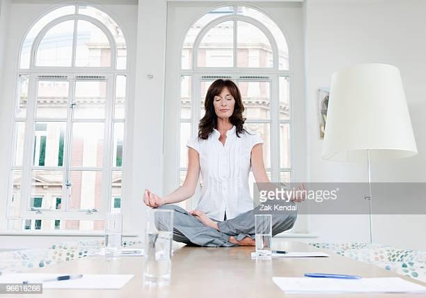 Female doing a yoga pose