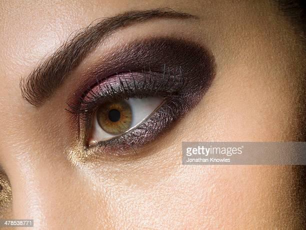 Female, elegant eye make up, close up