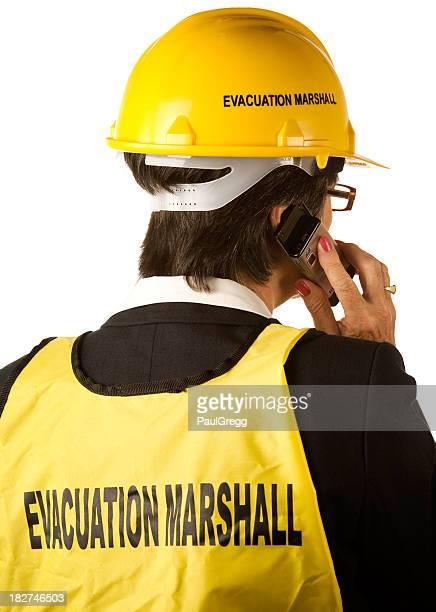 Female emergency evacuation marshall