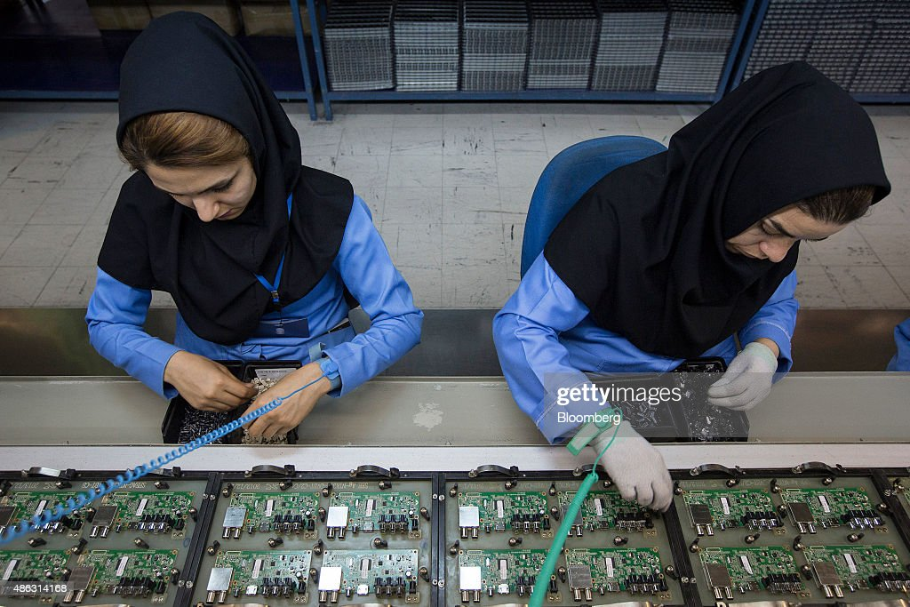 Manufacture At Iran's Leading Electronics Good Supplier Maadiran Group : News Photo